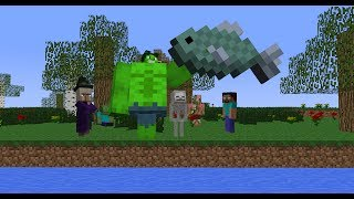 Monster School: Fishing (Minecraft Animation)