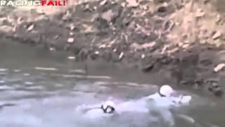 Piloto cae estrepitosamente a lago en Rally Guanajuato 2015