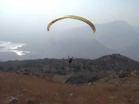 Me Paragliding Near Khanpur Lake