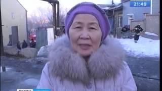 Двухквартирный жилой дом горел в Иркутске