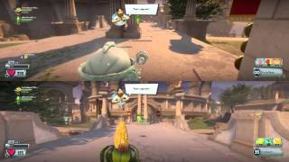 Plants vs Zombies Gw2 -Ps4- --Garden Ops- SPLIT-SCREEN- The Garage