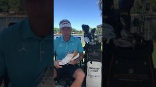 Bernhard sharing the secret of the Athalonz EnVe Golf Shoe