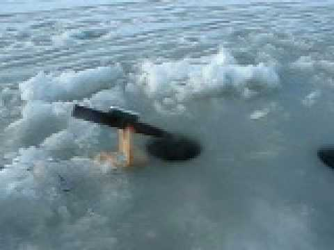 Ice fishing tip down youtube for How to ice fish