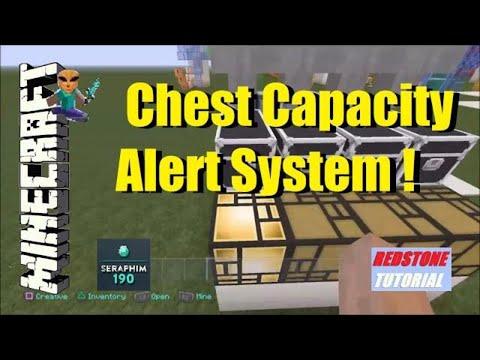 Minecraft: Chest Capacity Alert System (Redstone Tutorial) Episode: 308