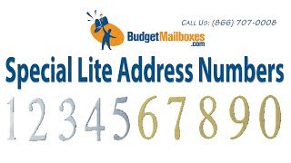 Budget Mailboxes Special Lite Address Numbers