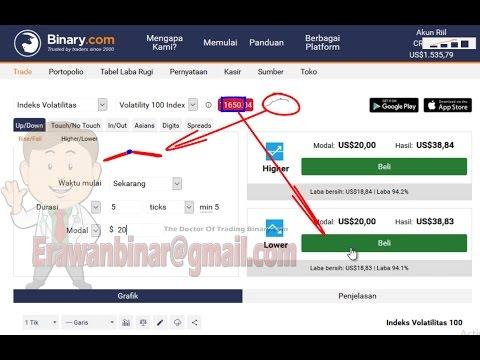 Binary.com tick trade strategy