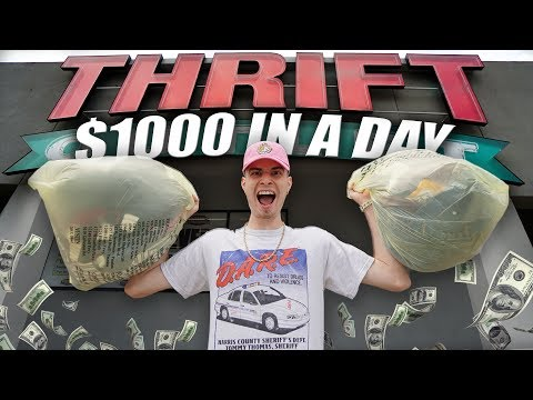 HOW TO MAKE $1000 IN A DAY... THRIFTING!!