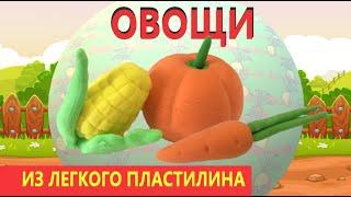 лепим морковь из лёгкого пластилина!