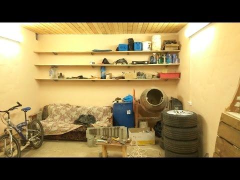 Самые простые деревянные полки (стелажи)  в гараж своими руками