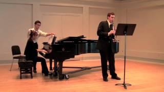 Sonata for Clarinet, Mvt. II: Lebhaft