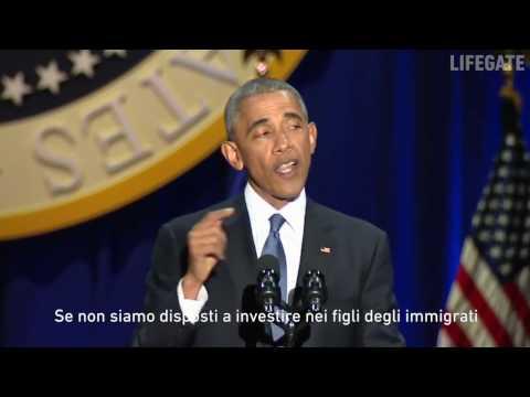 Il meglio dell'ultimo discorso di Barack Obama (sottotitoli in italiano)