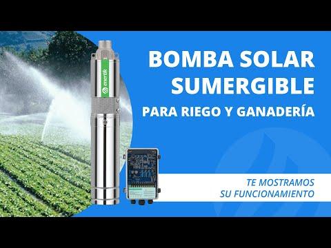 Bomba sumergible solar energizada directamente con paneles para riego solar - Enertik thumbnail
