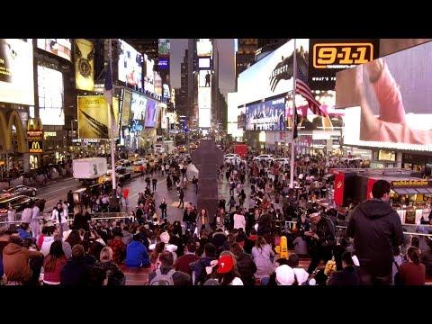 【4K】Walking around Times Square New York at Night