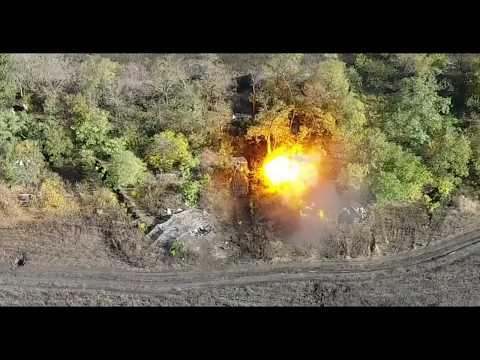 Работа артиллерии ДНР