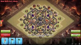 Clash of Clans | War Base TH9 | Layout Guerra CV9