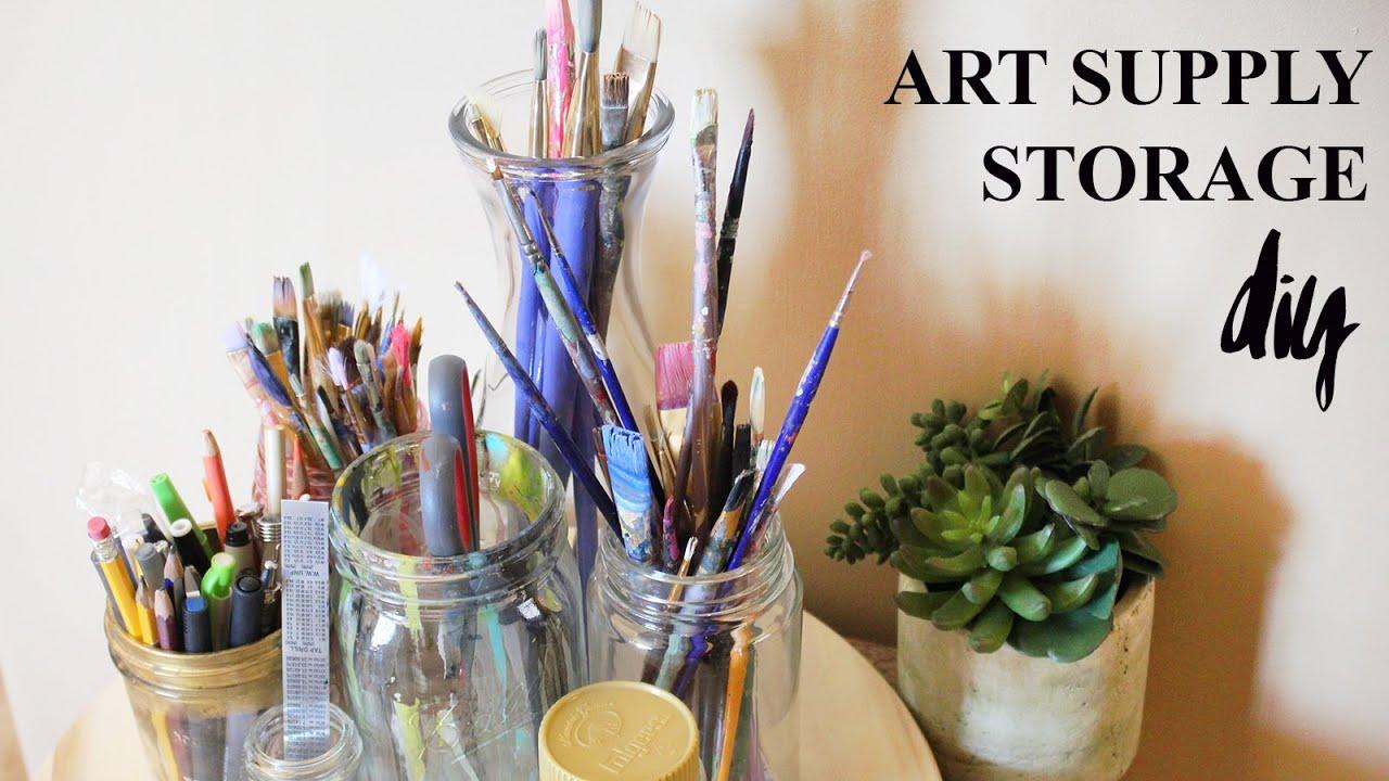 DIY Art Supply Storage! Lazy Susan ♥ Paige Poppe, Artist