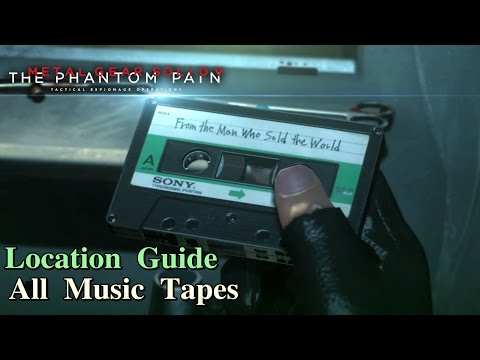 Metal Gear Solid V: The Phantom Pain ★ All Music Cassette Tapes [ Location Guide ]