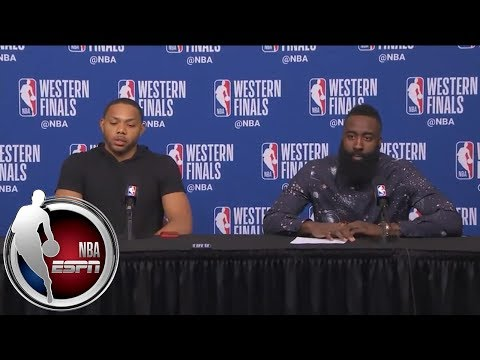 [FULL] James Harden and Eric Gordon after Rockets' Game 5 win over Warriors | NBA on ESPN
