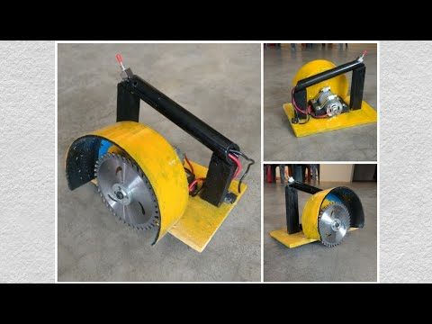 jugad (DIY) - how to make circular saw / hand saw / table saw at home ..... desi jugad