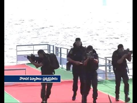 Watch |  Marine Commando Feets in Navy Show  Punnami Ghat Vijayawada