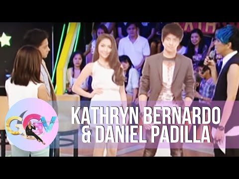 Vice Ganda plays with Kathryn-Daniel standees