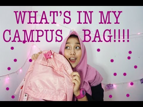 WHAT'S IN MY CAMPUS BAG || INDONESIA || SHAVLOG #4