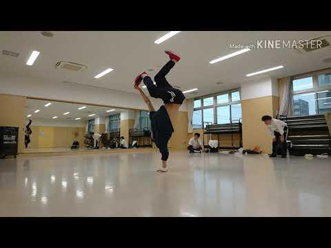 bboy mawashimon 縦系の最近の練習/handhops practice