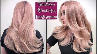 Blush Rose Blonde Hair Transformation