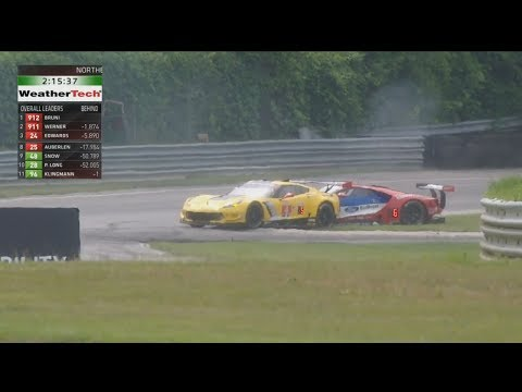IMSA WeatherTech SportsCar Championship 2017. Northeast Grand Prix. Crash