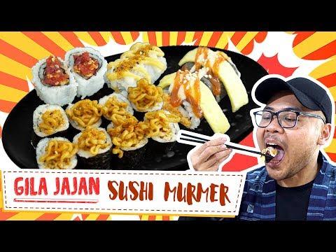JAJAN SUSHI MURAH, HALAL Dan BANYAK PILIHANNYA!!! | Gila Jajan #10