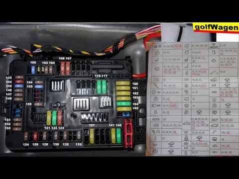 BMW 1 F20 fuse description? BMW 1 fuses diagram - YouTube