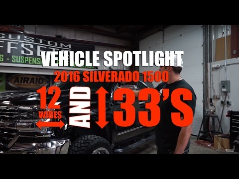 "Vehicle Spotlight - 2016 Silverado with 4"" Lift, 20x12"