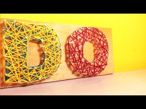 МК: Картина (панно) из ниток и гвоздей // DIY: Nails and thread wall art decor