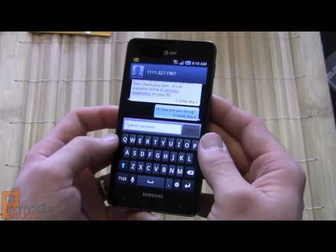 Samsung INFUSE 4G (AT&T) unboxing and video tour (part 2 of 2)