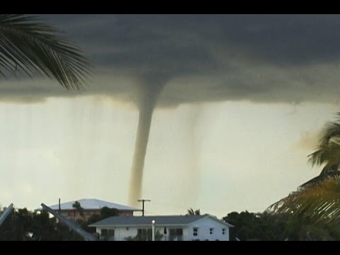 Incredible Waterspout In Big Pine Key, Florida