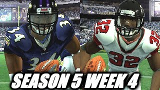 CEDRIC BENSON AND THE NEW LOOK RAVENS - MADDDEN 07 FALCONS FRANCHISE - S5W4