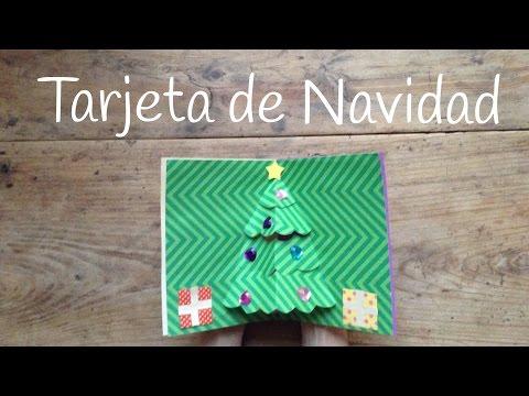 Tarjetas de Navidad en 3D con un bonito árbol de Navidad infantil