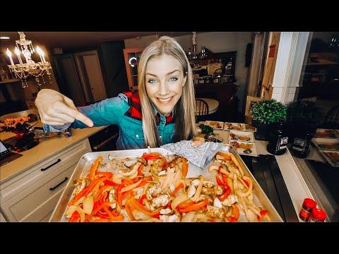 OVEN BAKED FAJITAS! Healthy Dinner    Food Kids Will Eat!