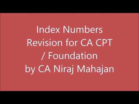 CA CPT Foundation STATISTICS FULL Revision INDEX NUMBERS by CA Niraj Mahajan