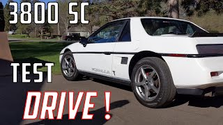 Supercharged 3800 Fiero Test Drive / Engine Swap