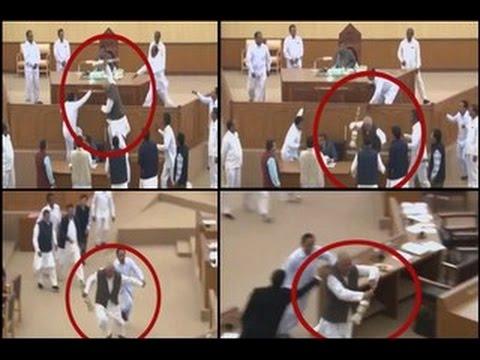 Tripura Lawmaker Runs Away With Speaker's Mace in India