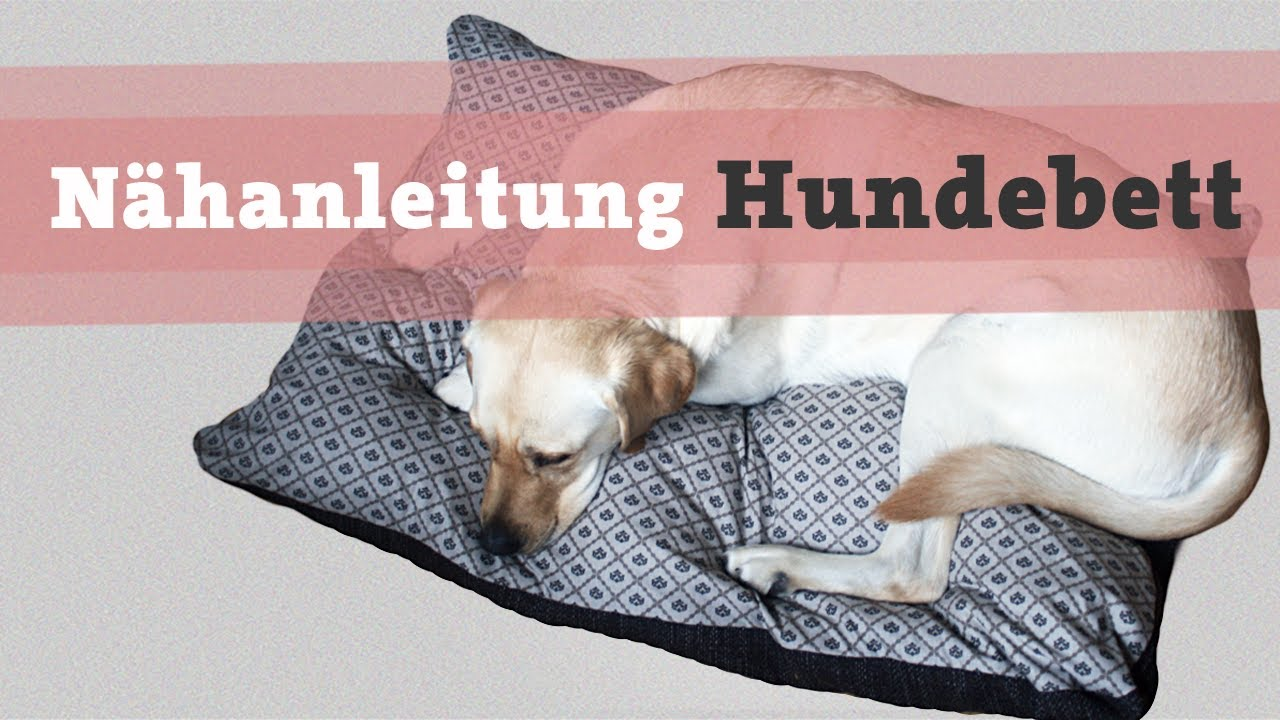 n hanleitung hundebett hundekissen diy selber n hen hund. Black Bedroom Furniture Sets. Home Design Ideas