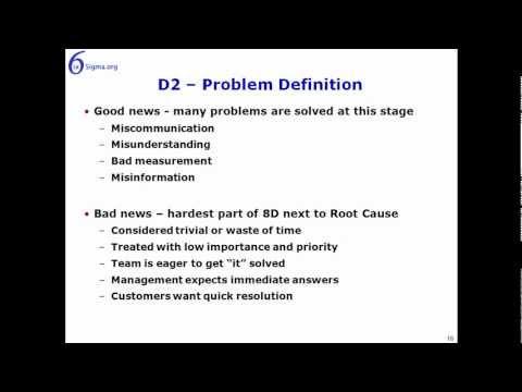8 Disciplines D0 to D2