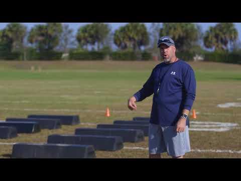 Football Warmups: Step Dummy Drills