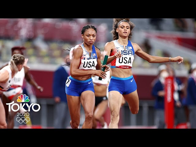 Felix wins 11th medal; USA dream team wins 4x400m gold (With Replays) | Tokyo Olympics | NBC Sports