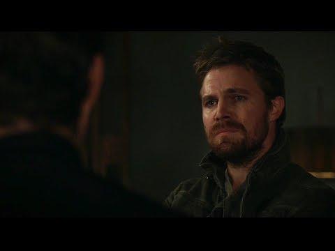 Arrow 8x04 Oliver talks to William and Mia