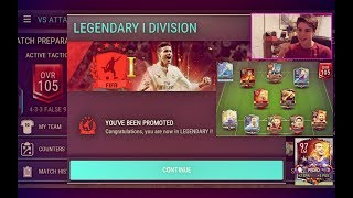 FIFA Mobile VS ATTACK GRIND TO LEGENDARY 1!!! FINALLY MADE IT!?! Plus NEW Member of the Squad SOON?