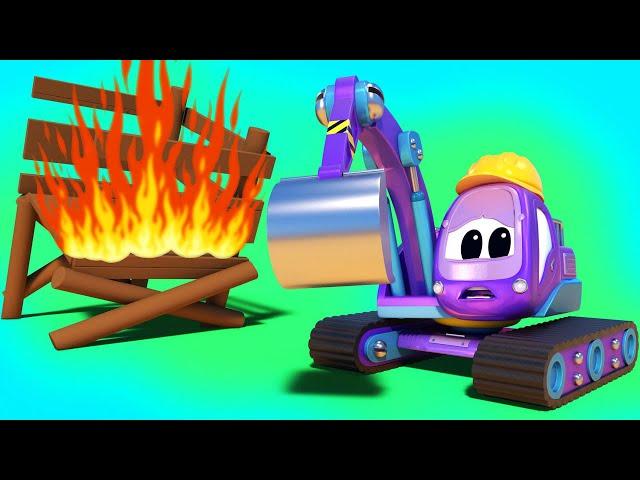Тушим пожар на празднике   Супер Грузовик - Спасатель   Детские мультфильмы