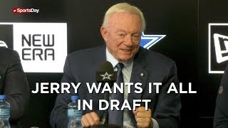 Cowboys Jerry and Stephen Jones talk about upcoming draft