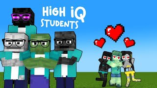 SMART MONSTER SCHOOL  AND THE  DUMB STUDENTS -  MINECRAFT ANIMATION